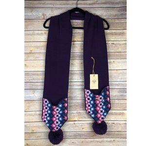 🆕 Prana Pompom Pocket Scarf in purple